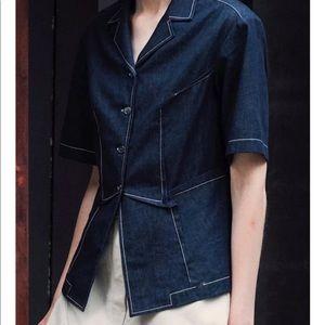 Colovos Cotton Chambray Button-Front Shirt